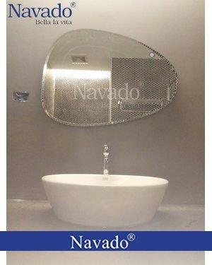 Gương phòng tắm mài vát đẹp