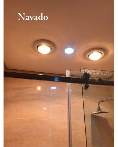 Đèn sưởi âm trần 2 bóng phòng tắm navado Hà Nội