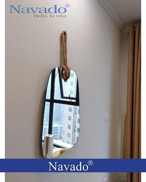 Gương trang điểm dây thừng 45cm
