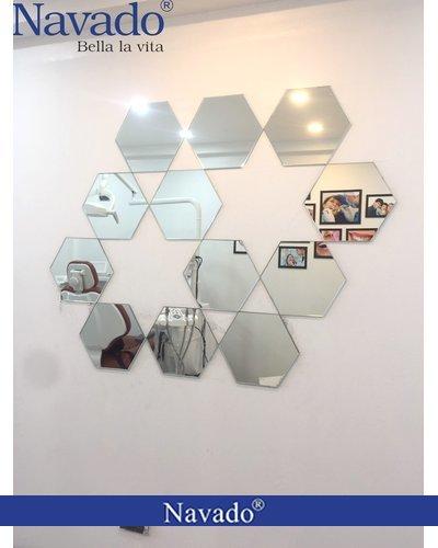 Gương trang trí tường lục giác