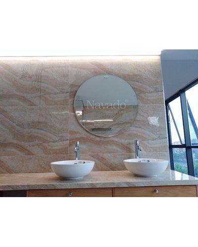 Gương nhà tắm tròn mài vát D800mm