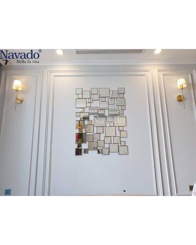 Gương nghệ thuật phòng khách Luxury