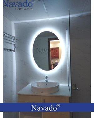 Gương nhà tắm đèn led Elip 50 x 90cm