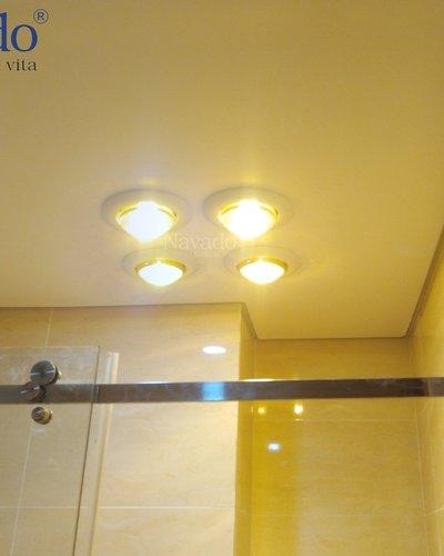 Đèn sưởi nhà tắm âm trần 4 bóng Navado