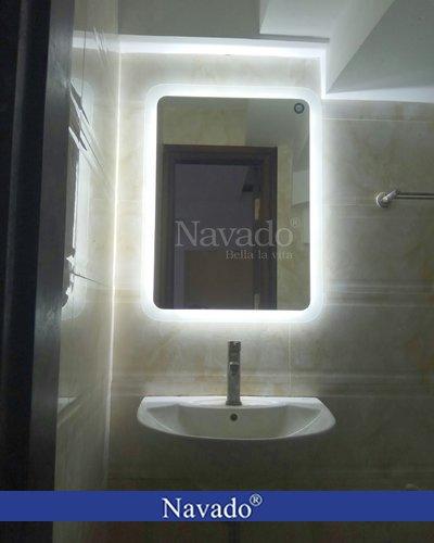 Gương nhà tắm đèn led Chữ Nhật Hải Phòng