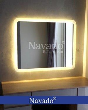 Gương nhà tắm đèn led chữ nhật Hà nội