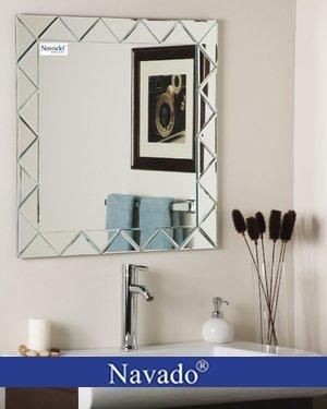 Gương Vuông decor phòng tắm