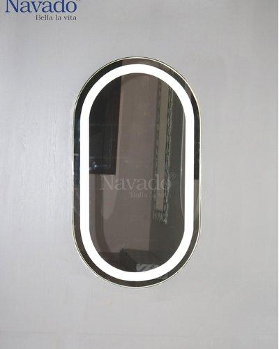 Gương treo tường khung inox đèn led