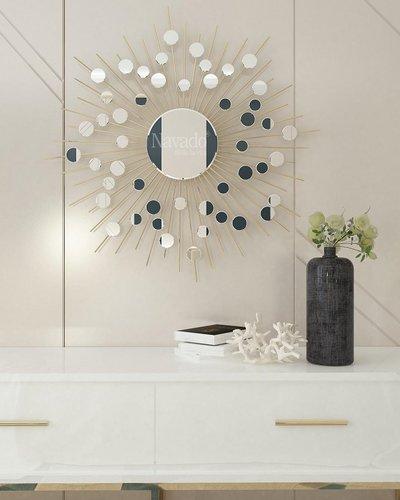 Gương treo tường phòng khách Hebes