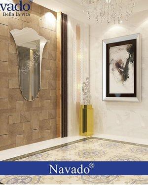 Gương treo sảnh khách sạn hành lang tuylip