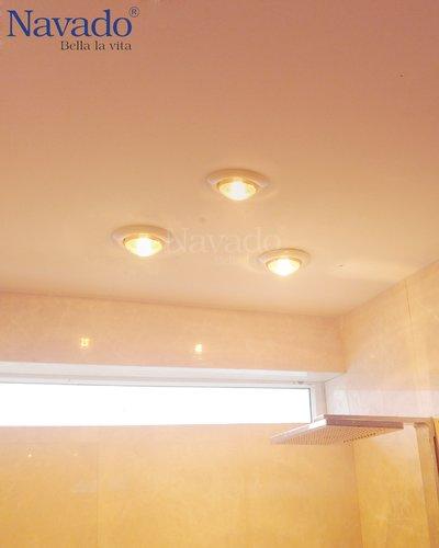 Đèn sưởi âm trần nhà tắm 4 bóng mùa đông Quảng Ninh