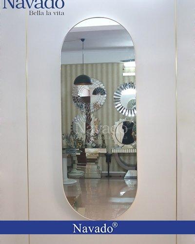 Gương khung bọc da soi toàn thân Kt 60x160cm