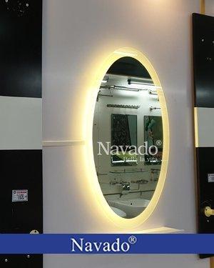 Gương phòng tắm đèn led elip 55 x 80cm