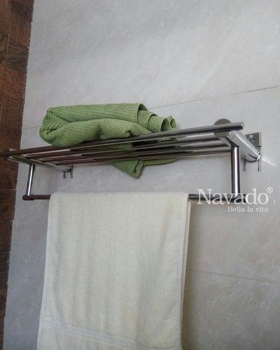 Kệ inox vắt khăn giàn không khoan tường