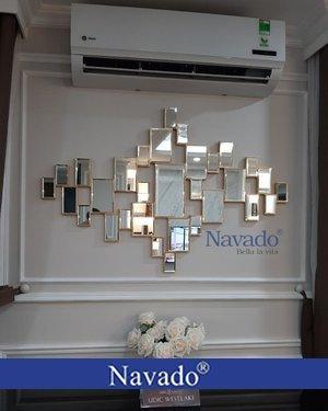 Gương ghép tường nghệ thuật cao cấp luxury -01