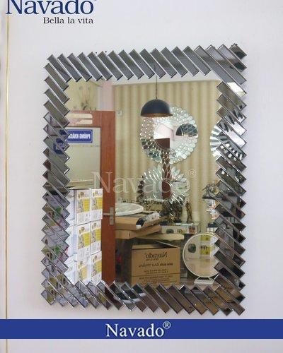 Gương treo tường trang trí nội thất cao cấp Ferino Black