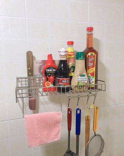 Kệ inox phòng tắm tiện ích không khoan tường