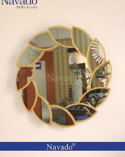 Gương trang trí phòng khách Lacos Gold