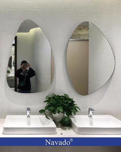 Gương trang trí Hòn Trống Mái