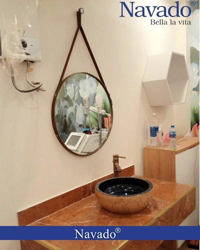 Gương thiết bị vệ sinh nghệ thuật treo dây