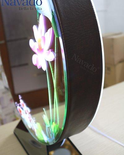 Gương để bàn trang điểm 3D đèn led