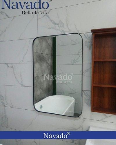 Gương phòng tắm khung thép bo góc 60x 90cm