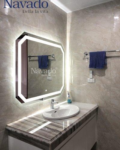 Gương phòng tắm đèn led 70 x 90 cm