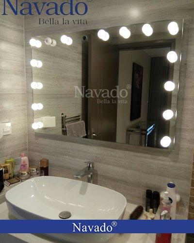 Gương thiết bị vệ sinh đèn led makeup Hà Nội