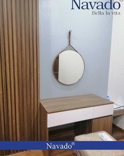 Gương trang điểm dây da 50cm