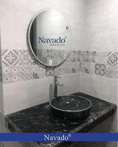 Gương thiết bị vệ sinh tròn D60cm