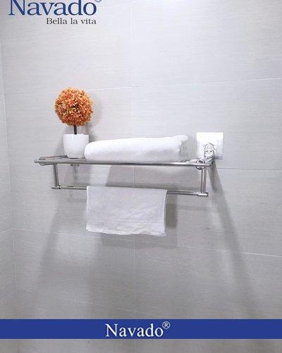 Kệ inox vắt khăn giàn dán tường Gs-6001