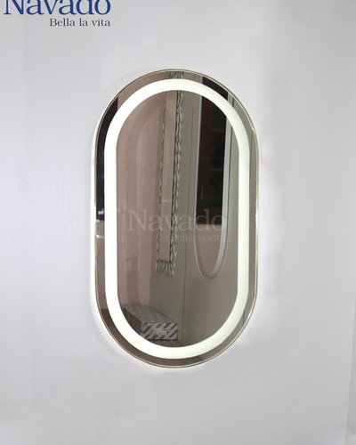Gương soi toàn thân khung inox có đèn led cảm ứng