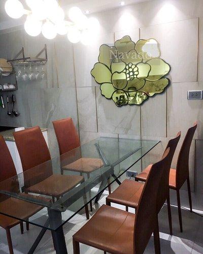 Gương trang trí phòng khách bàn ăn hoa hồng Rose