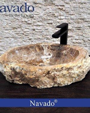 Chậu rửa mặt Lavabo đá cuội decor TPHCM