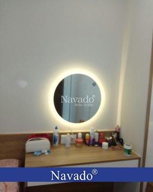 Lắp gương trang điểm đèn led phòng ngủ 60cm tại TPHCM