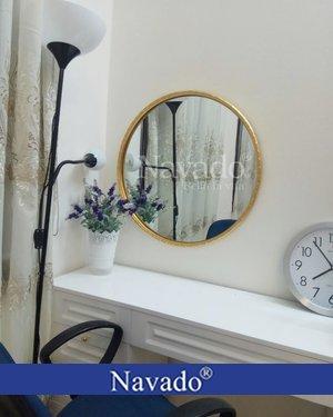 Gương trang điểm khung viền vàng oras 60cm