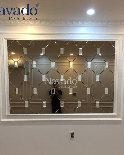 Gương ghép tường phòng ăn Navado