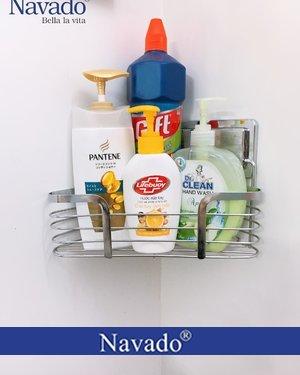 Giá đỡ khăn inox góc phòng tắm dán tường siêu chắc