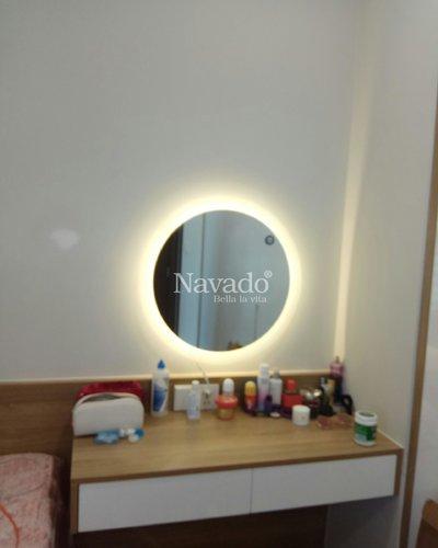 Lắp gương trang điểm đèn led 50 x70cm tại Hà Nội