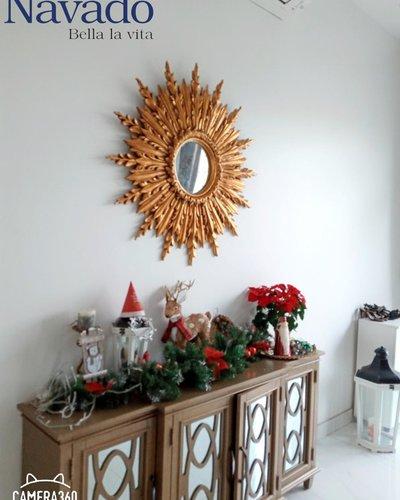 Gương treo tường phòng khách tân cổ điển Graces