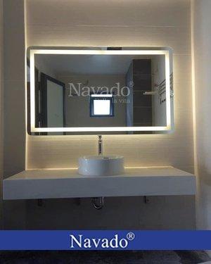 Gương bỉ cắt theo kích thước phòng tắm đẹp