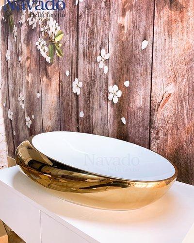 Chậu sứ nghệ thuật phòng tắm RS 1171WG