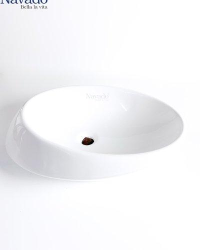 Bộ vòi và chậu sứ nghệ thuật cao cấp RS 1342A