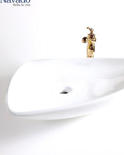 Bộ lavabo sứ nghệ thuật cao cấp phòng tắm RS 1007