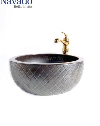 Bộ vòi chậu lavabo sứ nghệ thuật cao cấp phòng tắm RS 102