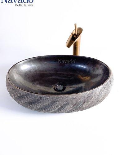 Bộ chậu đá nghệ thuật phòng tắm 175