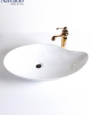 Bộ vòi chậu sứ nghệ thuật phòng tắm RS 1155