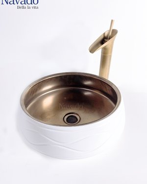 Bộ vòi chậu lavabo phòng tắm nghệ thuật RS 1146WB