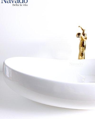 Chậu rửa mặt Lavabo Sứ nghệ thuật RS 1033
