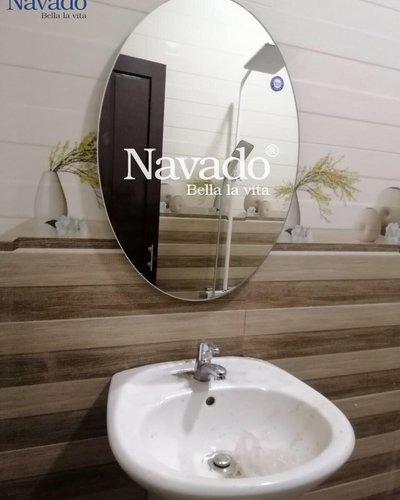 Gương phòng tắm Oval mài vát